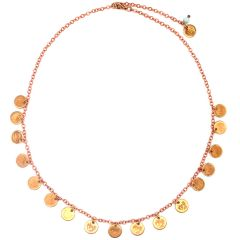 Europa Rose Gold coin necklace