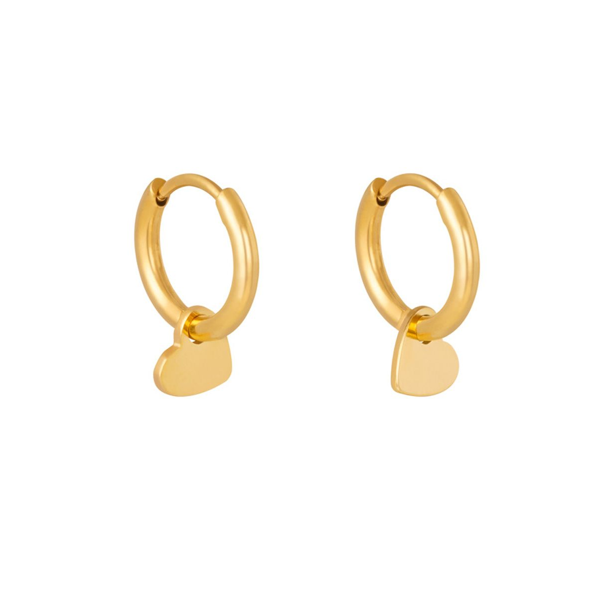 Lonely Hearts Gold Huggie Hoops