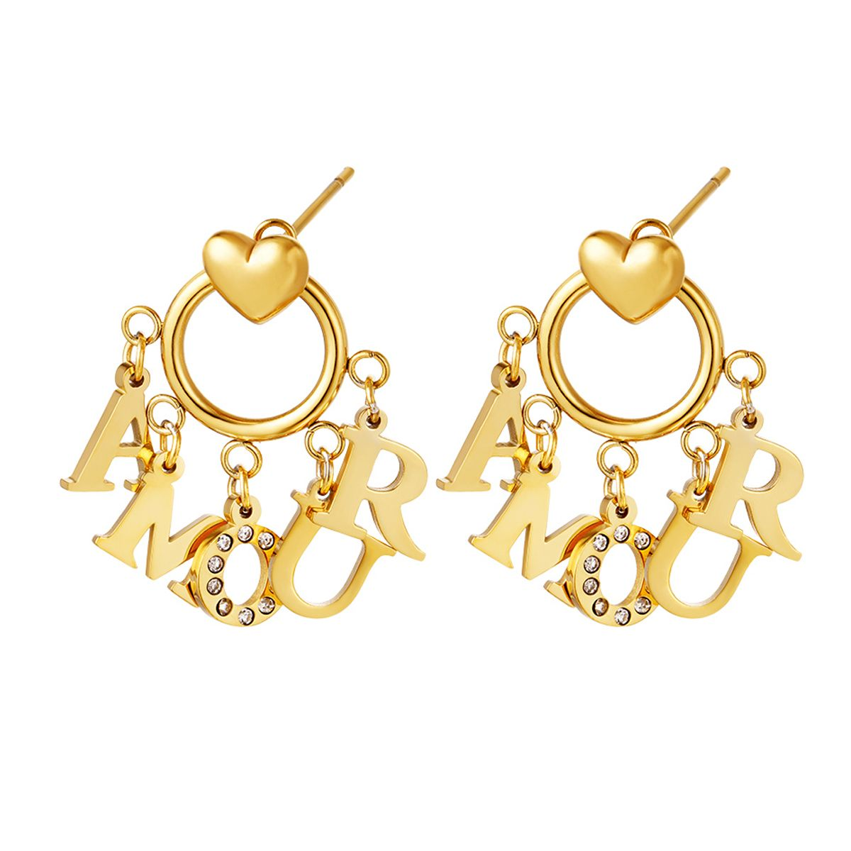 Earback Front Love Studs