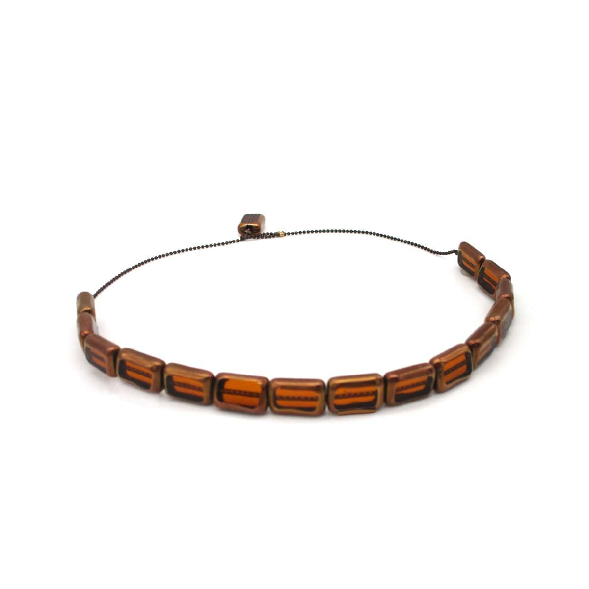 Penelope glass beads choker