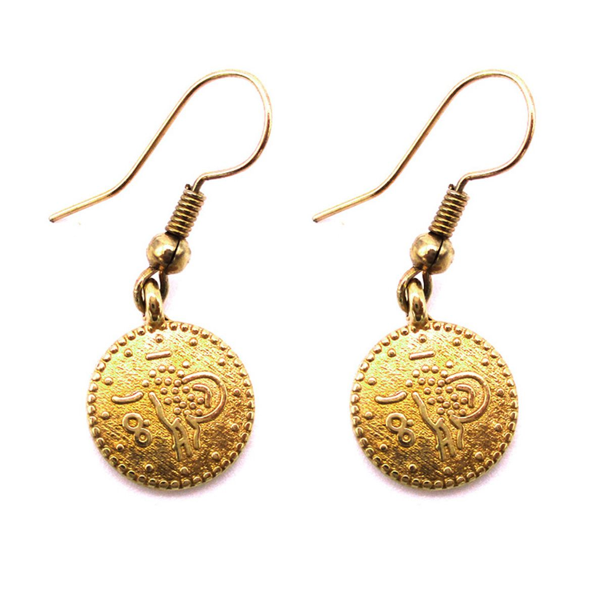 Cleopatra Gold Coin Earrings