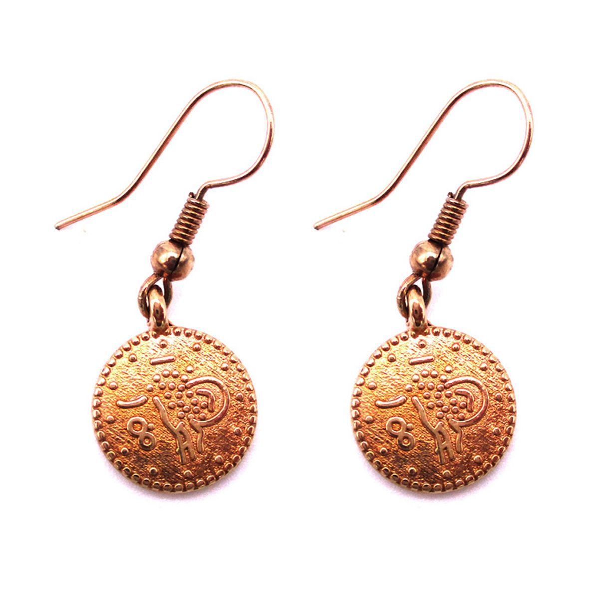 Cleopatra Coin Earrings