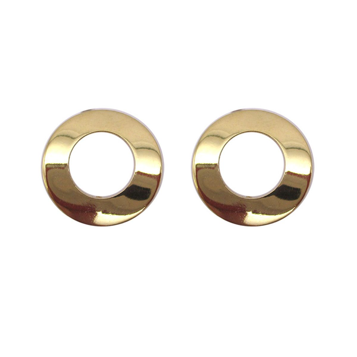 Dora Outlined Gold Stud Earrings