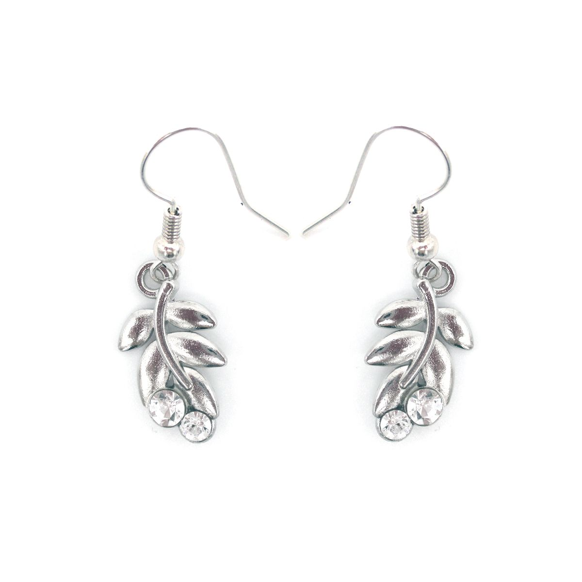 Helen crystal leaf earrings