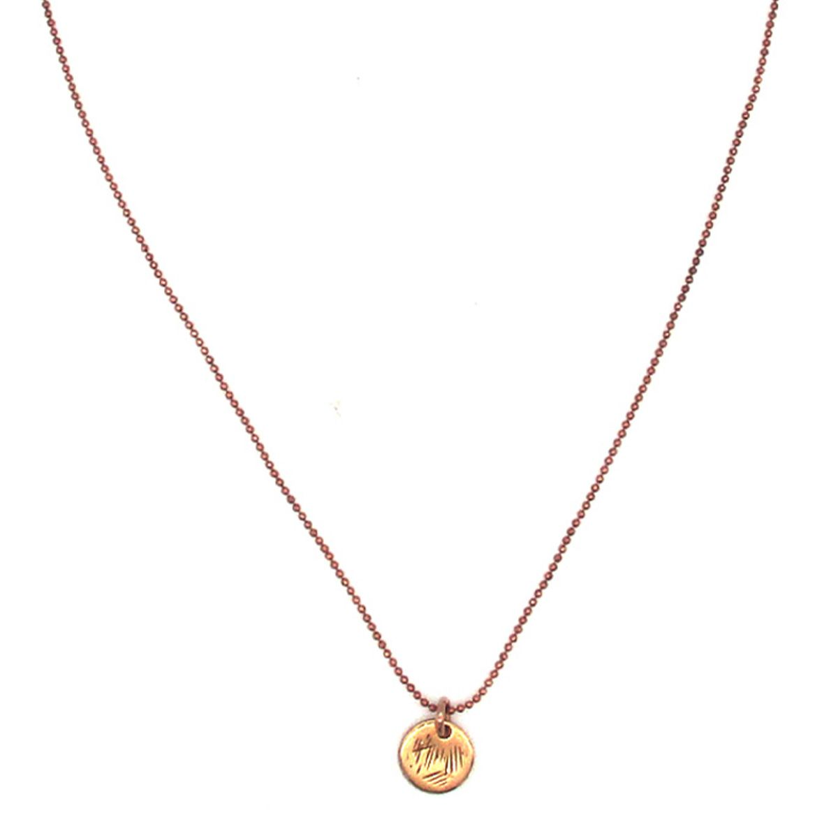 Apollonis Rose Gold Coin Necklace