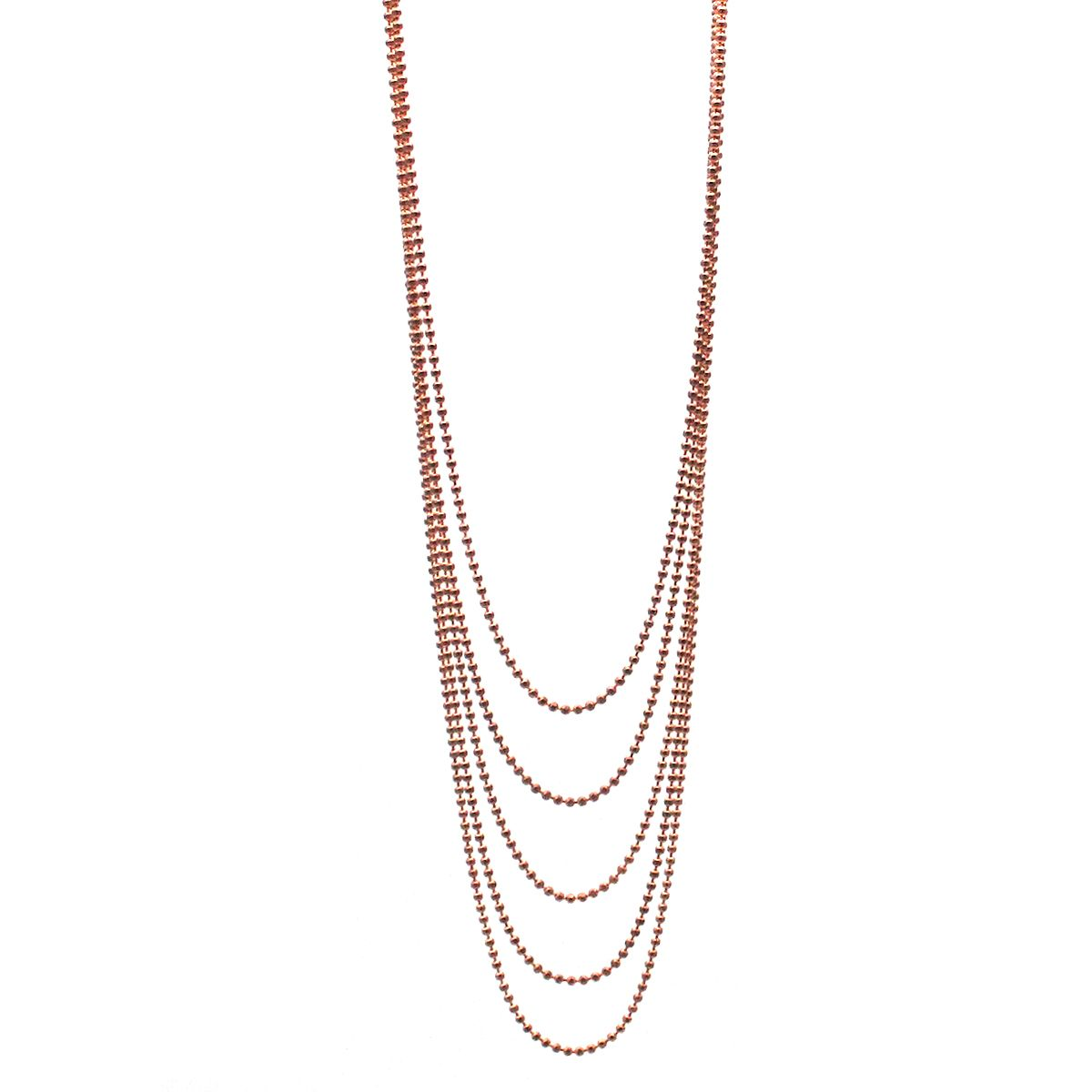Siren multi strand Rose Gold necklace