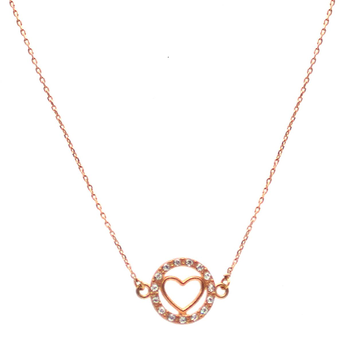 Lotis crystal heart necklace