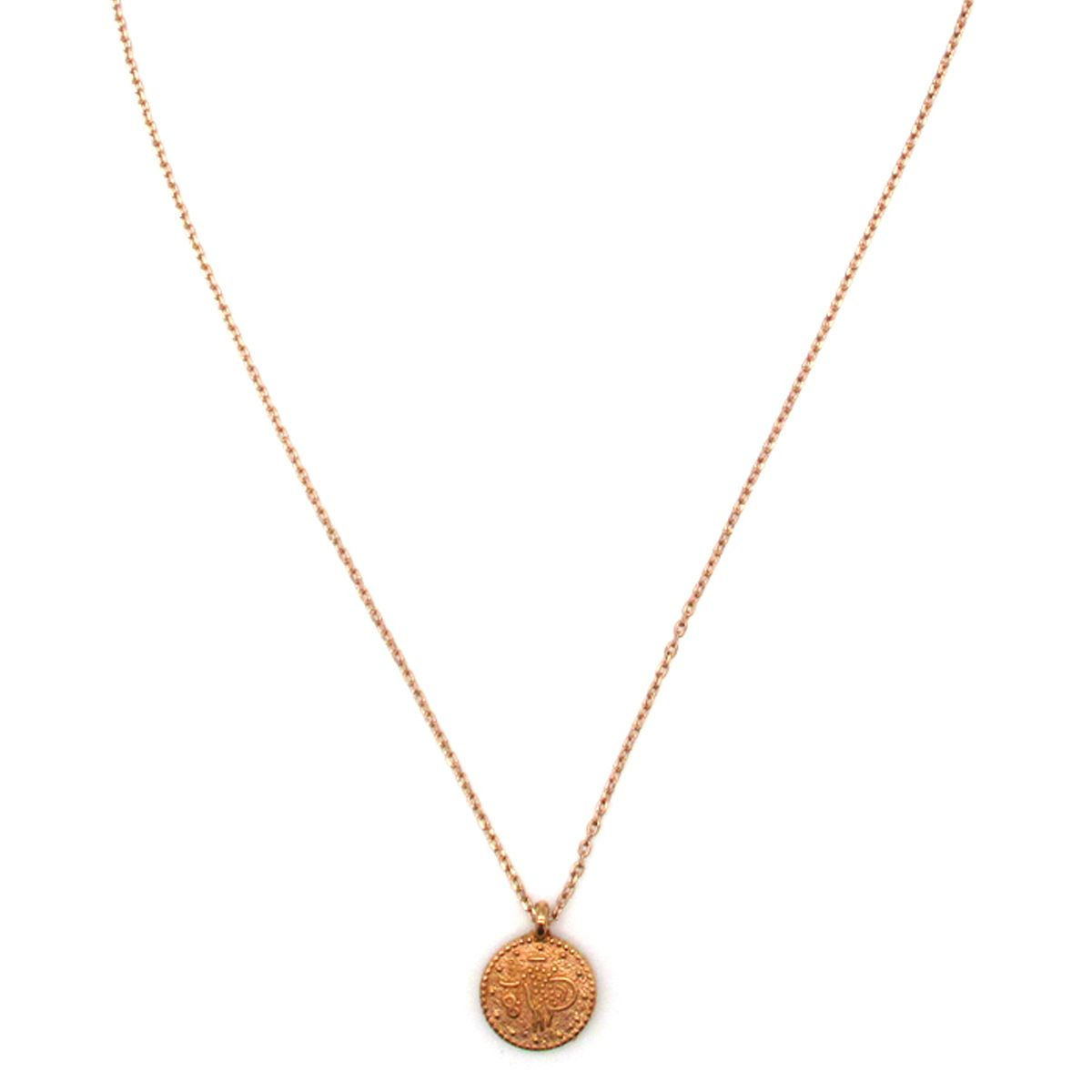 Cleopatra coin charm necklace