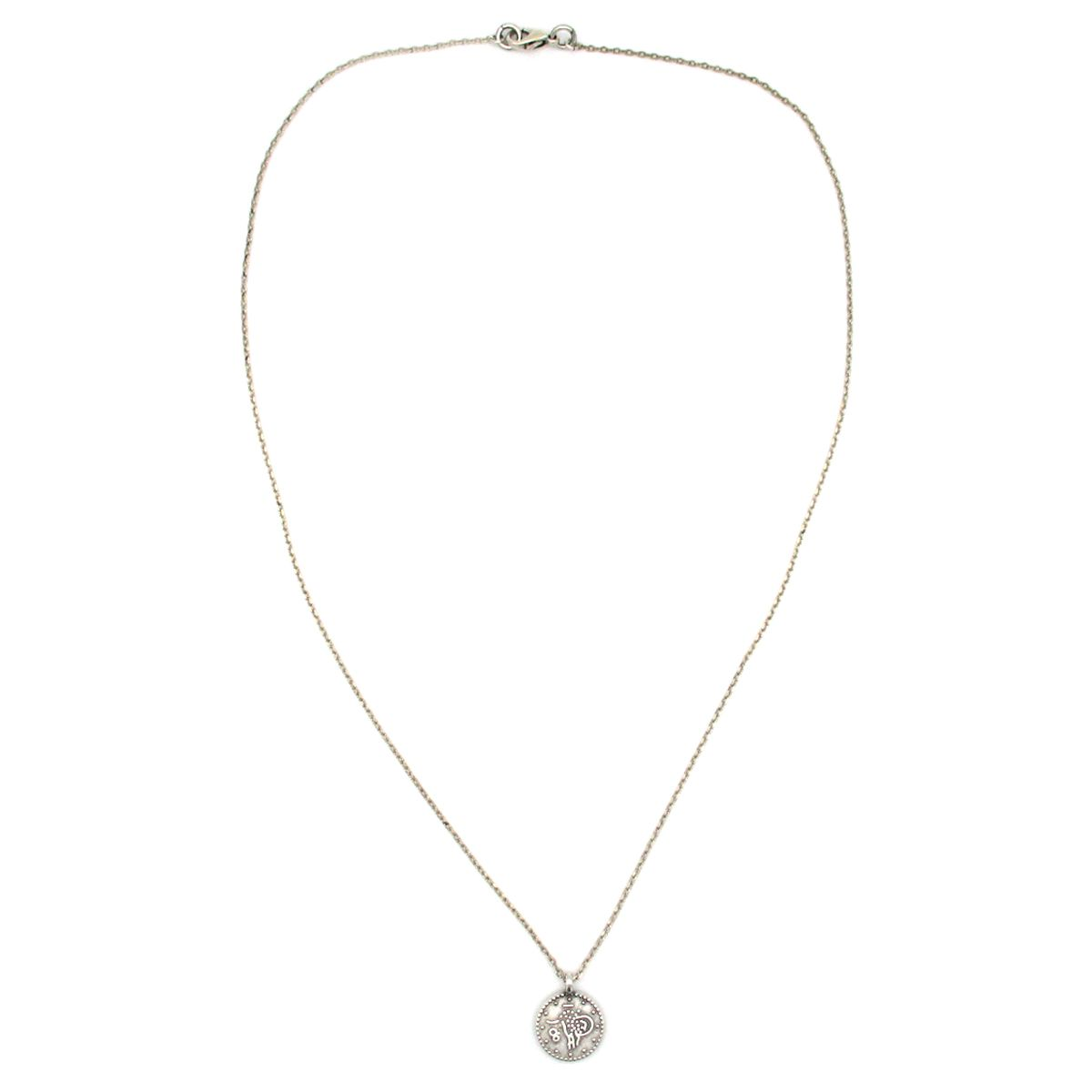 Cleopatra Silver Coin Necklace