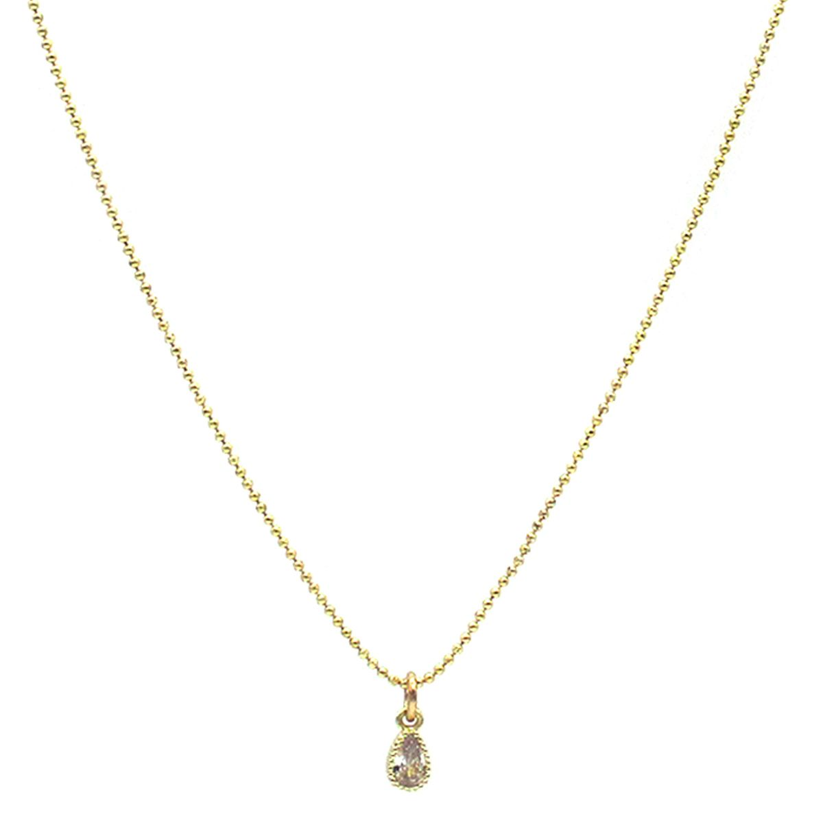 Isidora Crystal Charm Gold Necklace