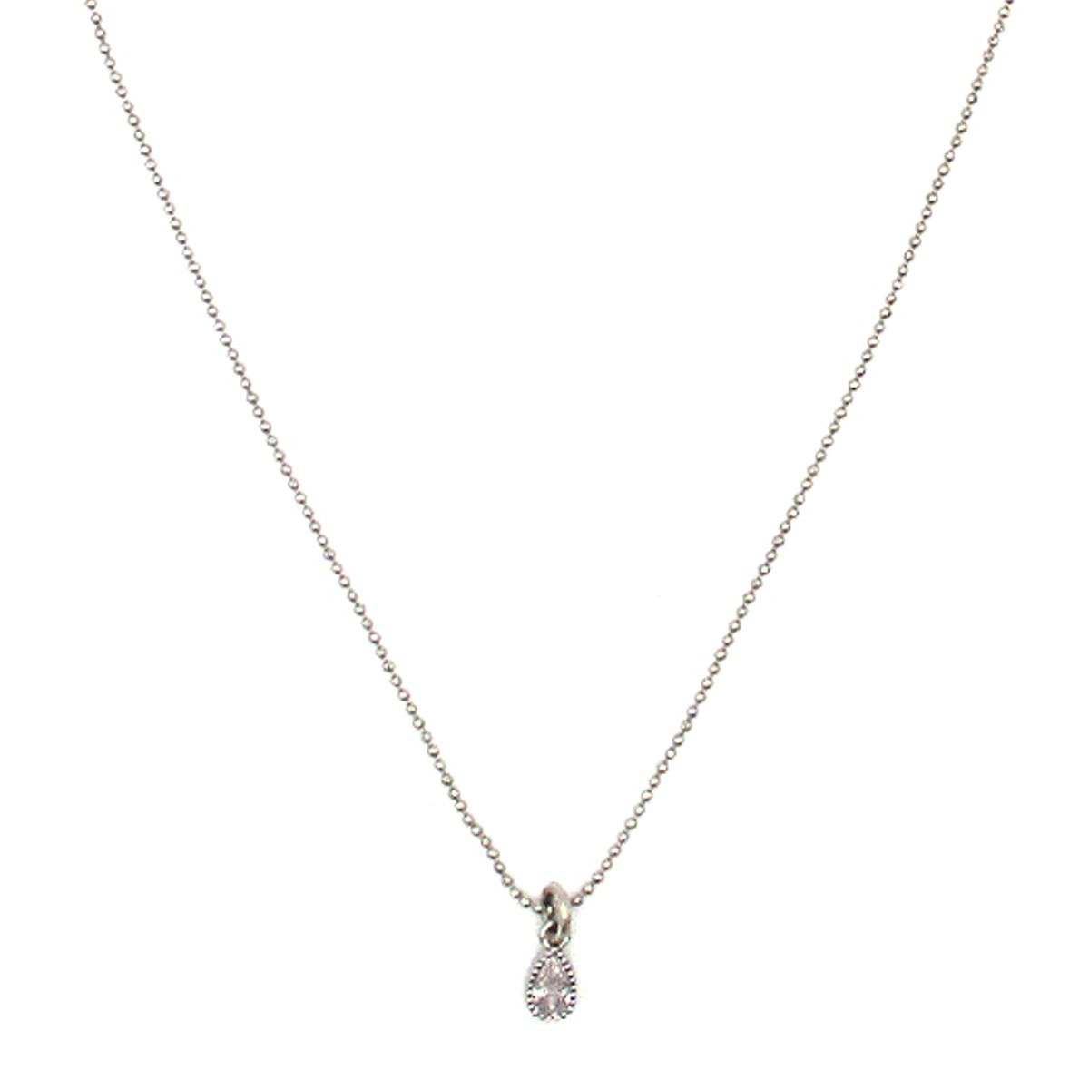 Isidora Crystal Charm Silver necklace